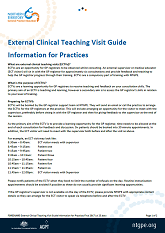 External Clinical Teaching Visit Guide Information for Practices