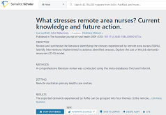 What stresses remote area nurses?